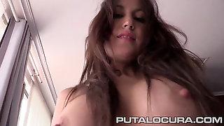 Incredible! Enormous Booty Spanish Schoolgirl Internal Ejaculation