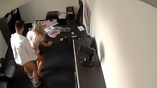 Gorgeous Sex On Hidden Cam In The Office With A Sensual Secreatry