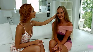 Sizzling Lesbian Scene With Two Pussy Hungry Lovelies