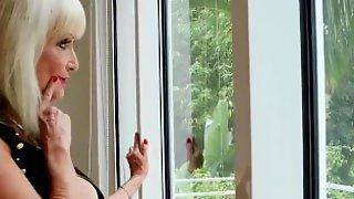 Gilf Blonde Creampie Pussy HD