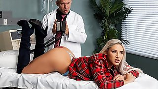 Blonde With Great Ass Inserts Holes For Fucking With Doctor