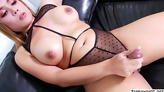Super-Fucking-Hot TRANSSEXUAL Angie Strokes Her Firm Shecock Until She Blows A Load A Plenty Of