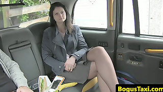 Analloving Unexperienced Gets A Fake Cab Creampie