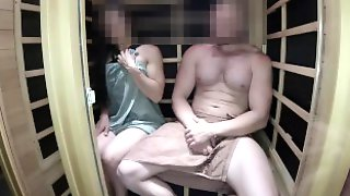 Caught The Girl For Masturbation And Broke The Sauna While Fucking Her