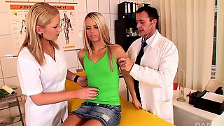 Fucking At The Doctors Office With Sluts Sabrina White And Nikki Sand