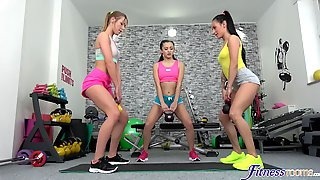 Shrima Malati And Her Two Lesbian Friends Have Sex In The Gym