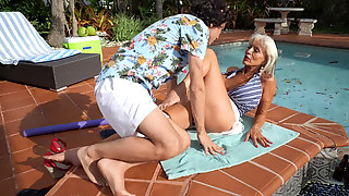 Granny Sally DAngelo Craves Young Man Meat