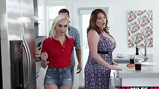Two Babes Please The Lucky Guys Boner - Threesome With Voluptious Maggie Green