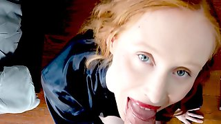 Redhead Damsel Lenina Crowne Gets Her Horny Pussy Fucked In POV