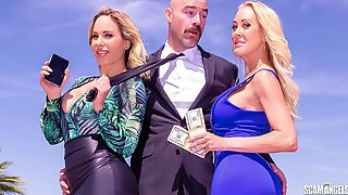 Cute Ladies Brandi Love And Olivia Austin Fuck With A Man In Suit