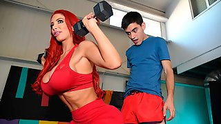 Sensual Mom With Huge Boobs Nicolette Shea Fucked By A Skinny Young Man