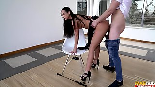 Bitch On High Heels Wants The Dick Even Deeper