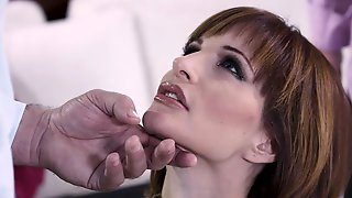 Stunning MILF In Stockings Ava Courcelles Drilled In DP Mode