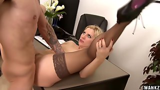 Ashley Fires Fucks Like A Bitch In The Office