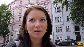 Czech Brunette Is Sucking A Random Guys Dick And Expecting To Ride It For A While