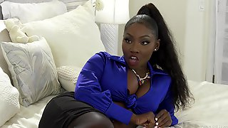 Cock Hungry Ebony Pornstar Osa Lovely Fucked By A White Monster