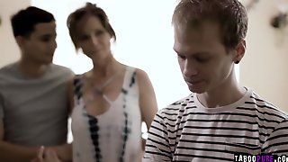 Lonely Stepmom Syren Got Double Penetrated By Her Loving Stepsons