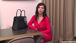 Hot Brunette In A Sexy, Red Dress, Jennifer Is Secretly Working As A Prostitute, Every Night