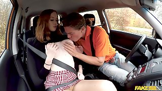 Redhead Sucks And Fucks Driving Instructor To Give Her The Driving License