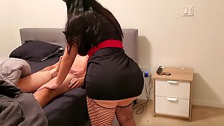 Magnificent Youthfull Nurse Wreck Lollipop In December With Her Large Rump