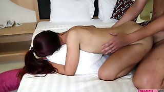 No Rubber Screwing With Petite Chinese Dame