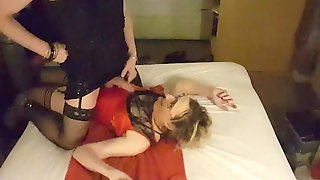 Sissy Crossdresser Lucy Piss On Essex Girl Lisas Dress And Gets A Blowjob As A Reward