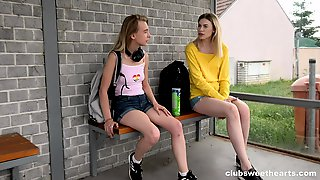 Lovely Milena Devi And Candy Teen Going Down On Each Other On A Picnic