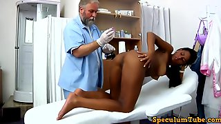 Pretty Teen, Isabelle Went To A Regular Gyno Exam And Ended Up Moaning While Getting Fingered