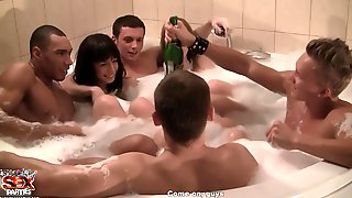 StudentSexParties- Corporate Group Orgy In A Sauna - Pt 4