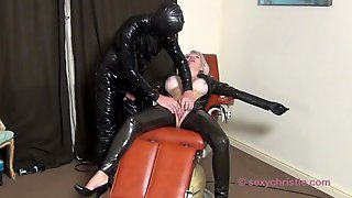 Christie Cougar Gets Fucked By Rubber Gimp