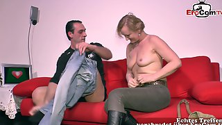 German Chubby Mature Mom At First Casting