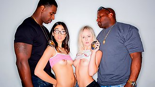 Teen Sluts Natalia Queen & Harmony Wonder Breaking The Law