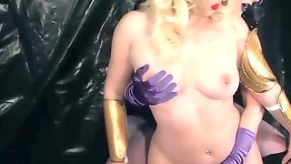 Two Sexy Lesbians In Princess Costumes Caress Tentacles