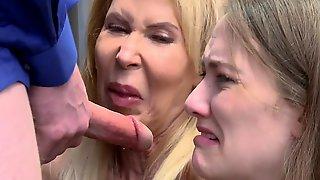 Grandma And Stepgranddaughter Get Caught