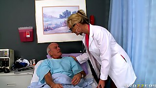 Blonde Doctor Phoenix Marie Drops Her Uniform To Ride A Patient