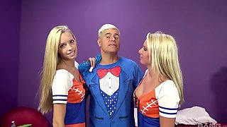 Fab Foursome For Hot Cheerleaders Brooke Logan And Cherry Morgan
