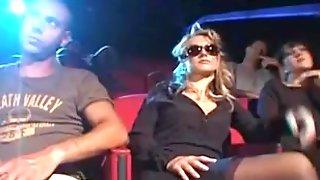 Interracial Group Sex At The Cinema