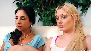 Trinity St Clair And Nella Jones Her First Lesbian Action