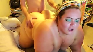 BBW Sucking Fucking And An PAWG Anal Ending