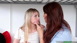 Syren De Mer Is Making Out With Scarlett Sage, While They Are Alone At Home