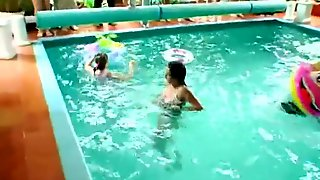 Shameless Party Babes Gets Banged At Poolside