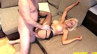 Busty MILF Gets Ass Pumped In A Pretty Harsh Mode
