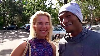Sexy Czech Blonde Nikky Dream Enjoys Interracial BBC In Car - Reality Porn