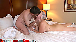 Big Titted Dirty Blonde Mega-slut With Braces Penetrates Me In Hotel