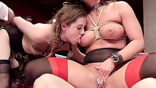 Holly Heart And Kasey Warner Are The Biddable Babes At Group Sex Party