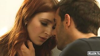 Great-looking Redhead Chick Maya Kendrick Rides On A Large Dick