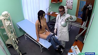 Shy Brunette Ends Up Getting Laid With Her Physician