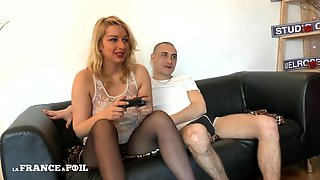 La France A Poil - Trashy Blonde With Big Ass Takes Ana