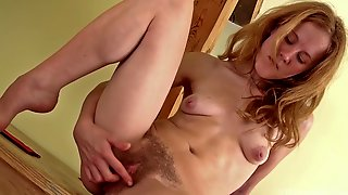 Krista Wooden Feels Her Hot Wet Pussy For You