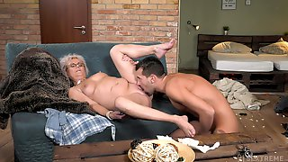 Granny Works Magic With Her Soaked Pussy And Ass